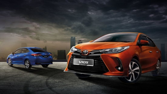 Toyota Vios sedan received sports restyling